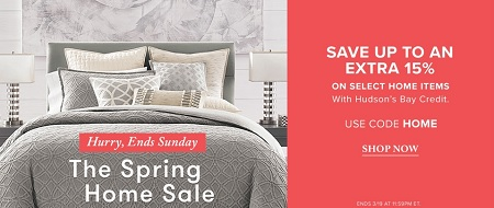 Coupon for: Last day to save money at Hudson's Bay Canada
