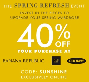 Coupon for: Save money thanks to the promotion code at Banana Republic Canada