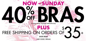 Coupon for: La Senza Canada: Take 40% off bras