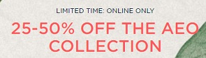 Coupon for: Enjoy many ways to save money at American Eagle Outfitters Canada