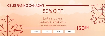 Coupon for: Bench Canada: Enjoy 150th anniversary of Canada