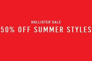 Coupon for: Summer Sale is on at Hollister Canada