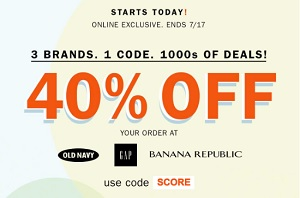 Coupon for: Save money at Banana Republic, Gap & Old Navy Canada right now