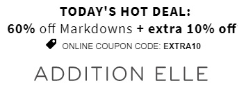 Coupon for: 5 days, 5 hot deals from Addition Elle Canada