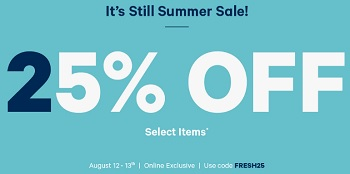 Coupon for: Joe Fresh Canada: It's still Summer Sale