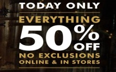 Coupon for: Get 50% discount on everything at Banana Republic Canada