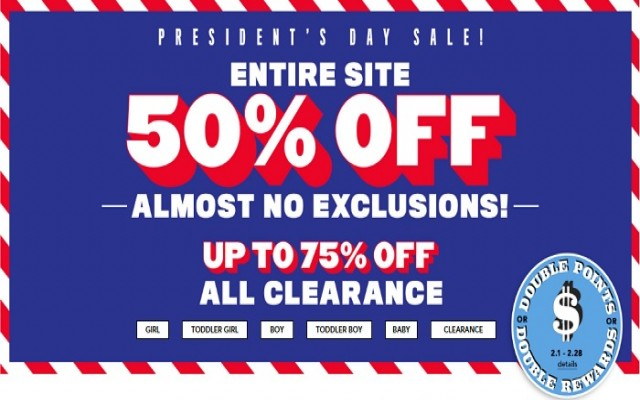 Coupon for: The Children's Place Canada Sale Alert: Everything on sale - 50% + Earn Place Cash