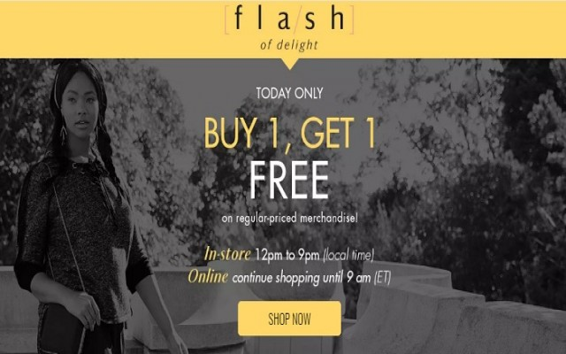 Coupon for: Penningtons Canada Flash Sale: Buy 1, Get 1 for free