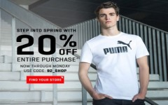 Coupon for: PUMA Outlet Canada Sale: Get 20% off your purchase