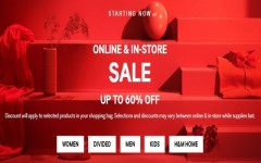 Coupon for: H&M Canada online & in-store SALE: Up to 60% off