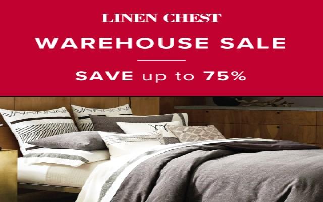 Coupon for: Linen Chest at Quartier Dix 30 - WAREHOUSE SALE