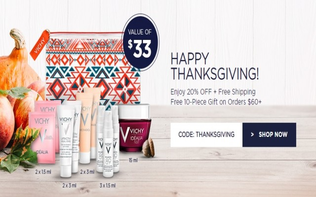 Coupon for: Vichy - HAPPY THANKSGIVING!