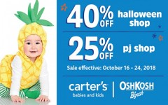 Coupon for: Carter's/Oshkosh at Quartier Dix 30 - Spooky Cute