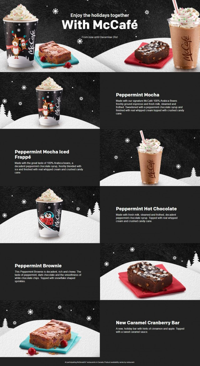 Coupon for: Come to McDonald's and enjoy the holiday together with McCafé.
