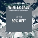 Coupon for: Lacoste at CF Sherway gardens - WINTER SALE!