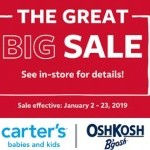 Coupon for: Carter's and OshKosh at West Edmonton offers - The Great Big Sale