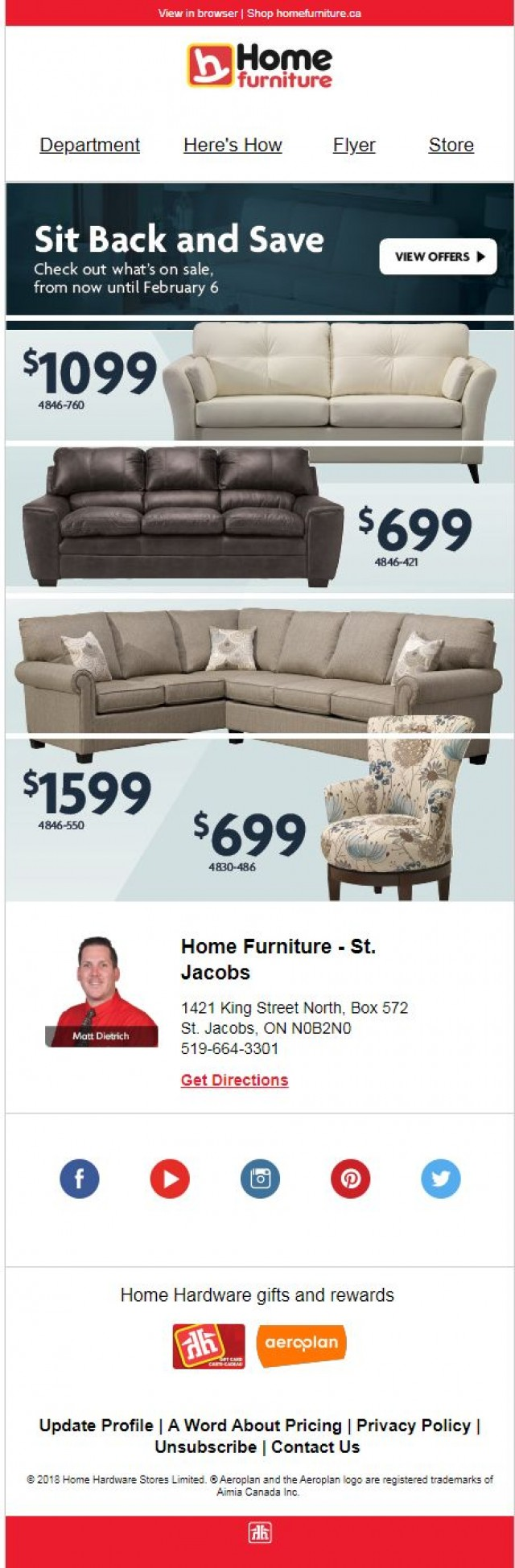 Coupon for: Home Furniture - Sit Back and Save