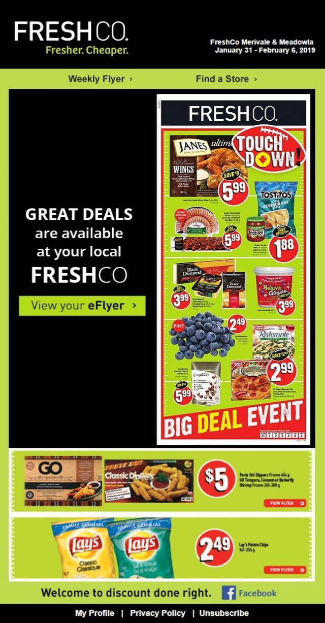 Coupon for: Fresh Co. - Great deals are available at your local Fresh Co.