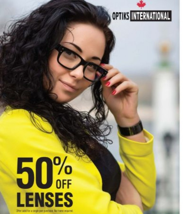 Coupon for: 50% Off Lenses