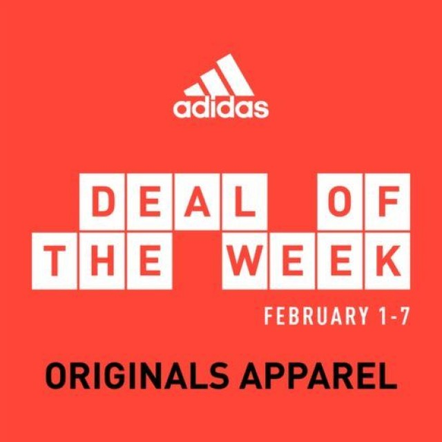 Coupon for: Adidas Deal of the Week – Originals Apparel