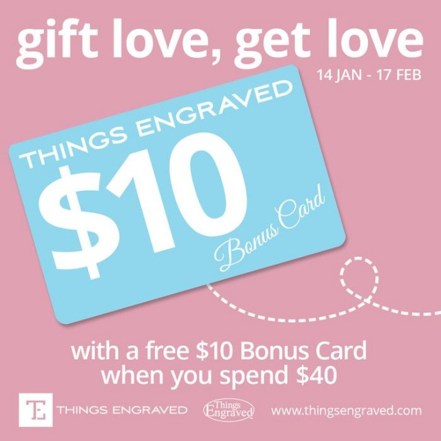Coupon for:  Gift Love, Get Love @Things Engraved