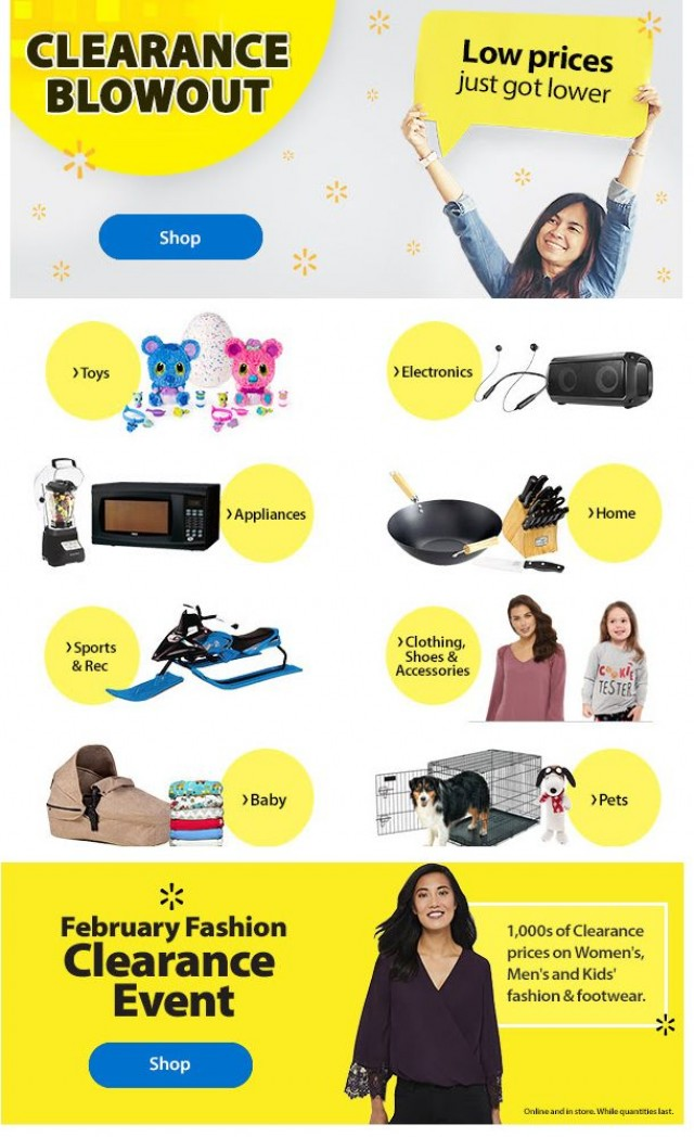 Coupon for: Walmart Canada - February Clearance Blowout!