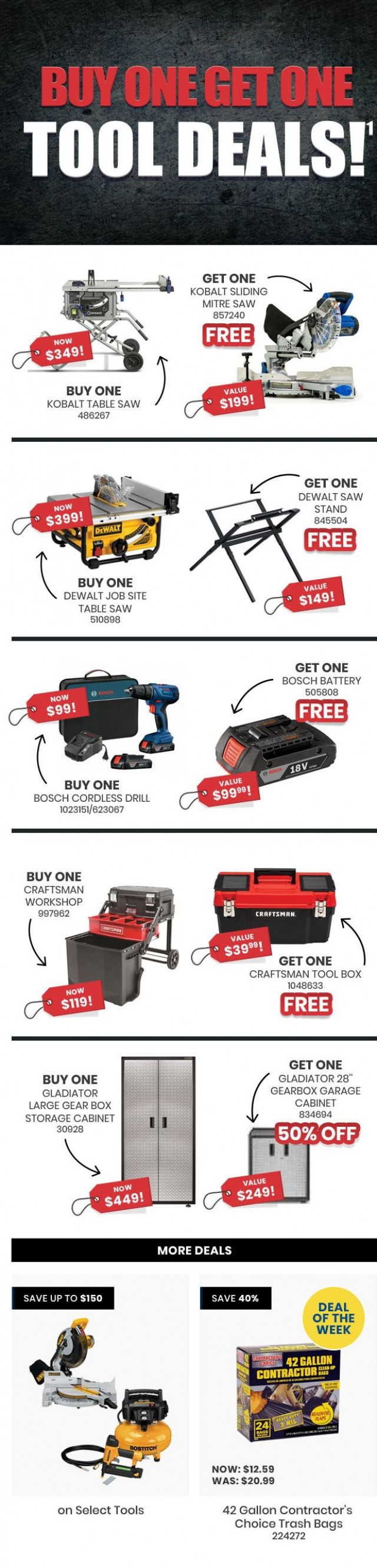 Coupon for: Lowe´s Canada - Buy One Get One Sale - BOGO