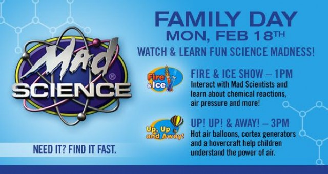 Coupon for: Fun Science Madness! Family Day Event at Tesumseh Mall