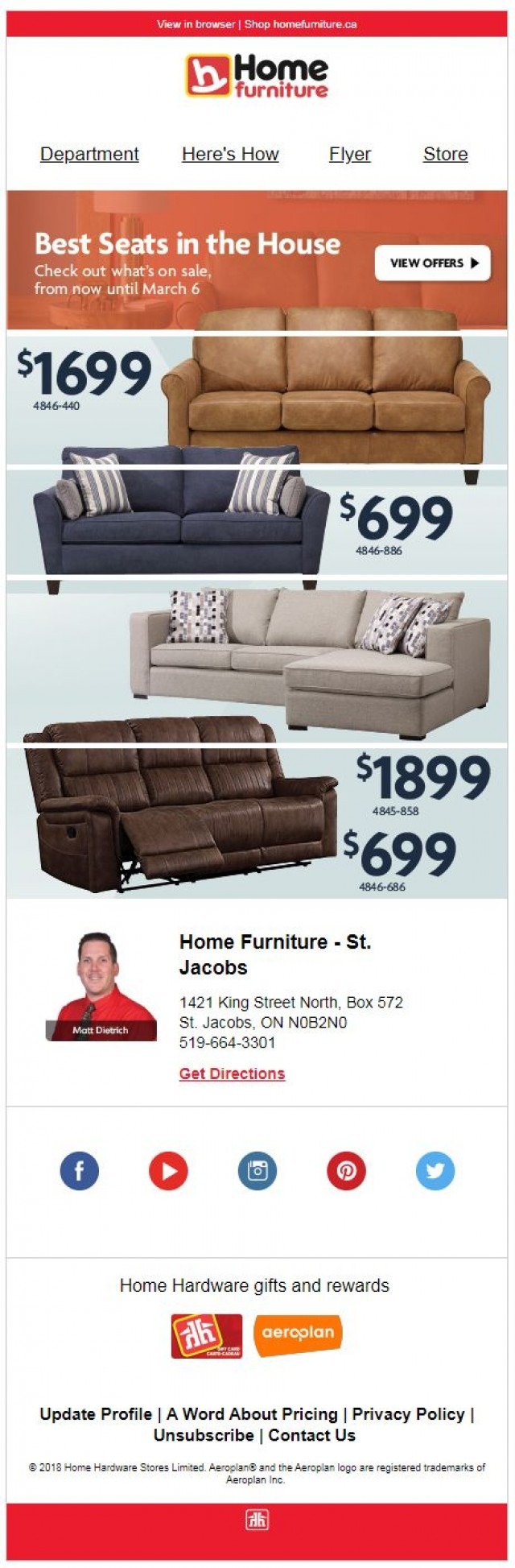 Coupon for: Home Furniture - Best Seats in the House