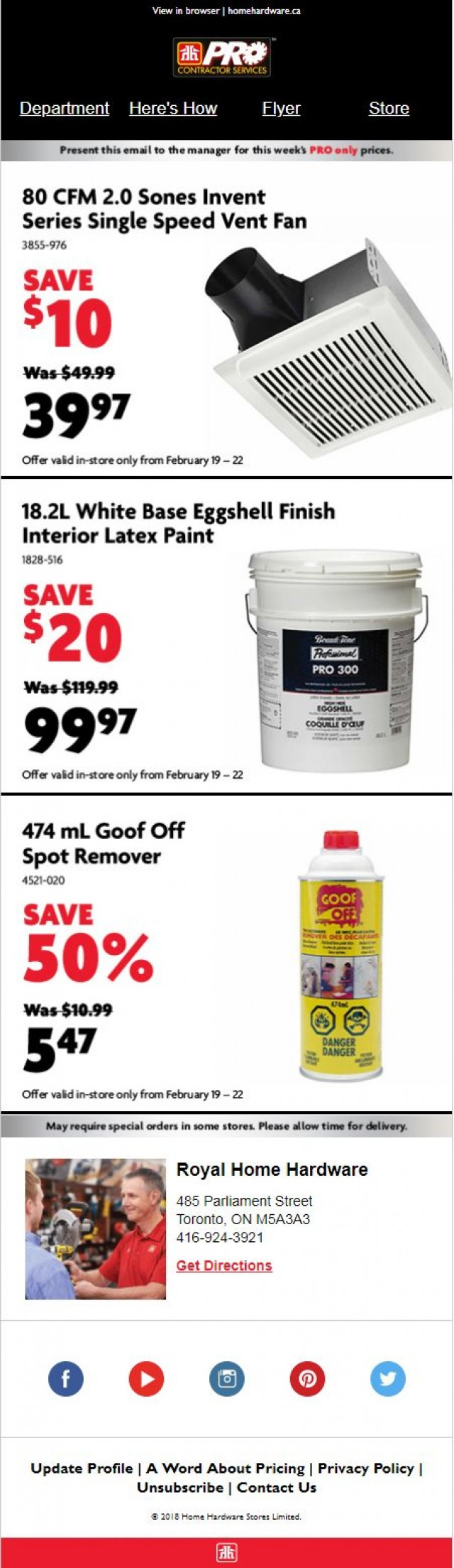 Coupon for: Home Hardware - Special offer