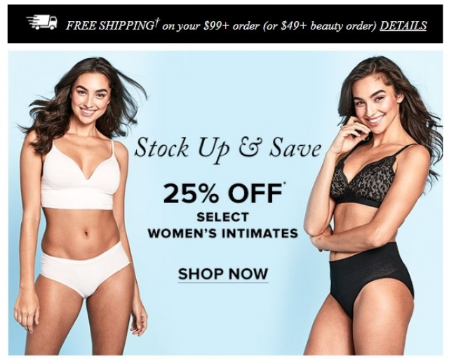 Coupon for: Hudson's Bay - Stock up and Save - up to 25% off