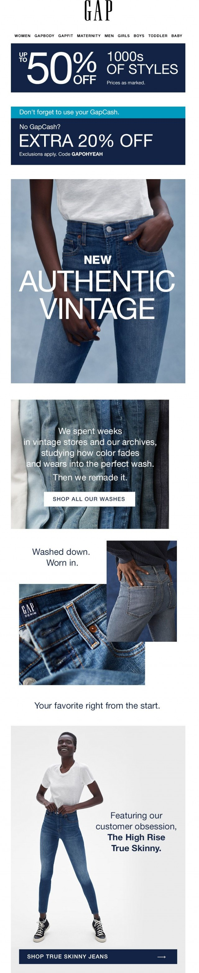 Coupon for: Gap - Like you've had them forever (plus a deal you'll want forever)