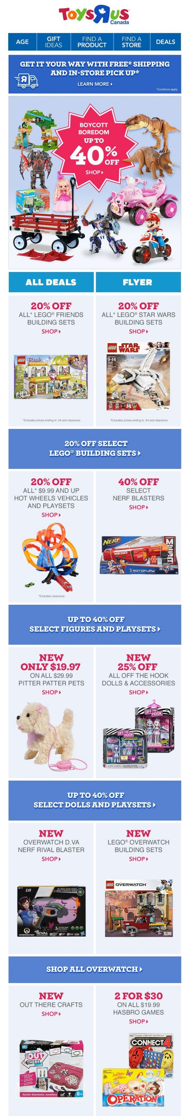 Coupon for: Toys R us - Stuff PLUS up to 40% off!