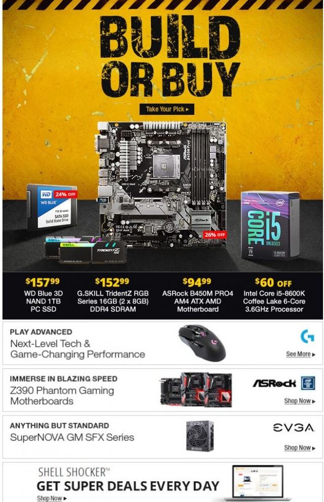 Coupon for:  Newegg - Build or Buy