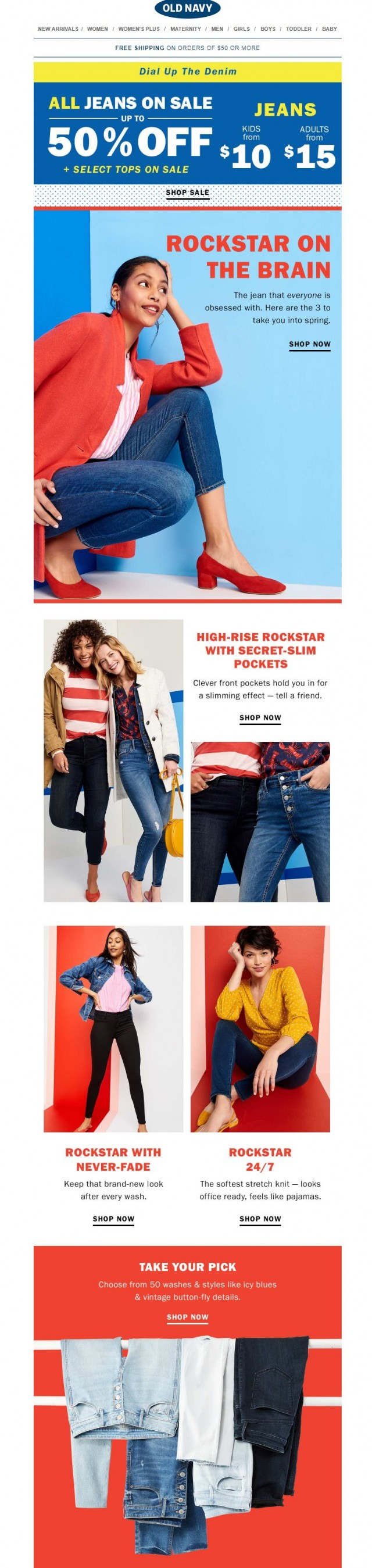 Coupon for: Old Navy - Score jeans from $15 & tops from $7