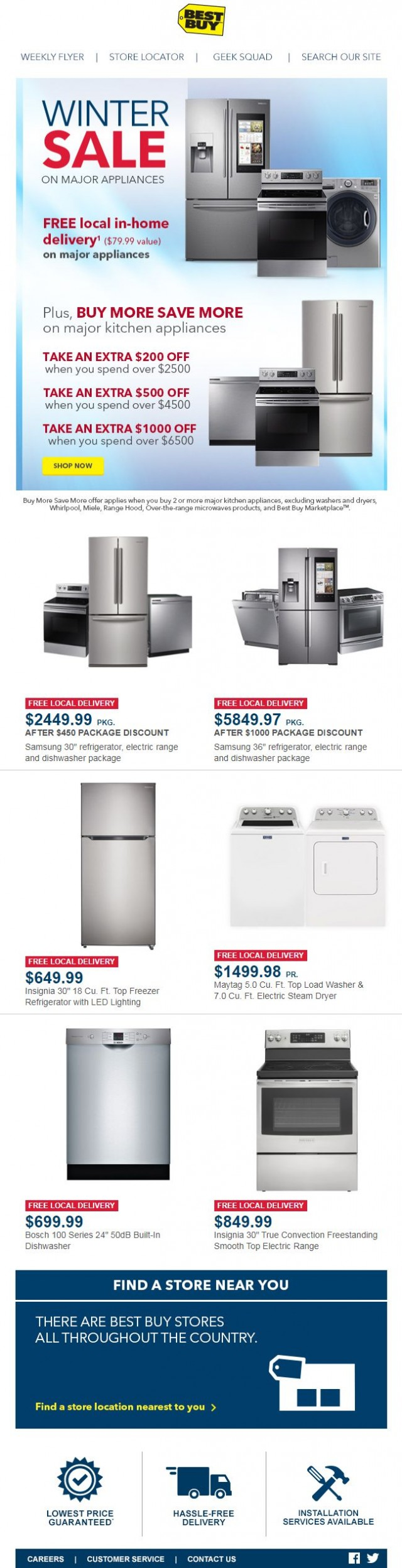 Coupon for: Best Buy - 3 days only - save up to $1000 on major kitchen appliances