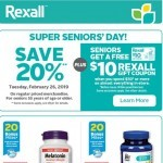 Coupon for: Rexall - Super Seniors' Day!