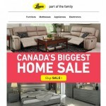Coupon for: Leon's - Home is Where your couch is - Canada's Biggest Home Sale