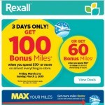 Coupon for: Rexall - 3 Days Only! Get 100 AIR MILES® Bonus Miles