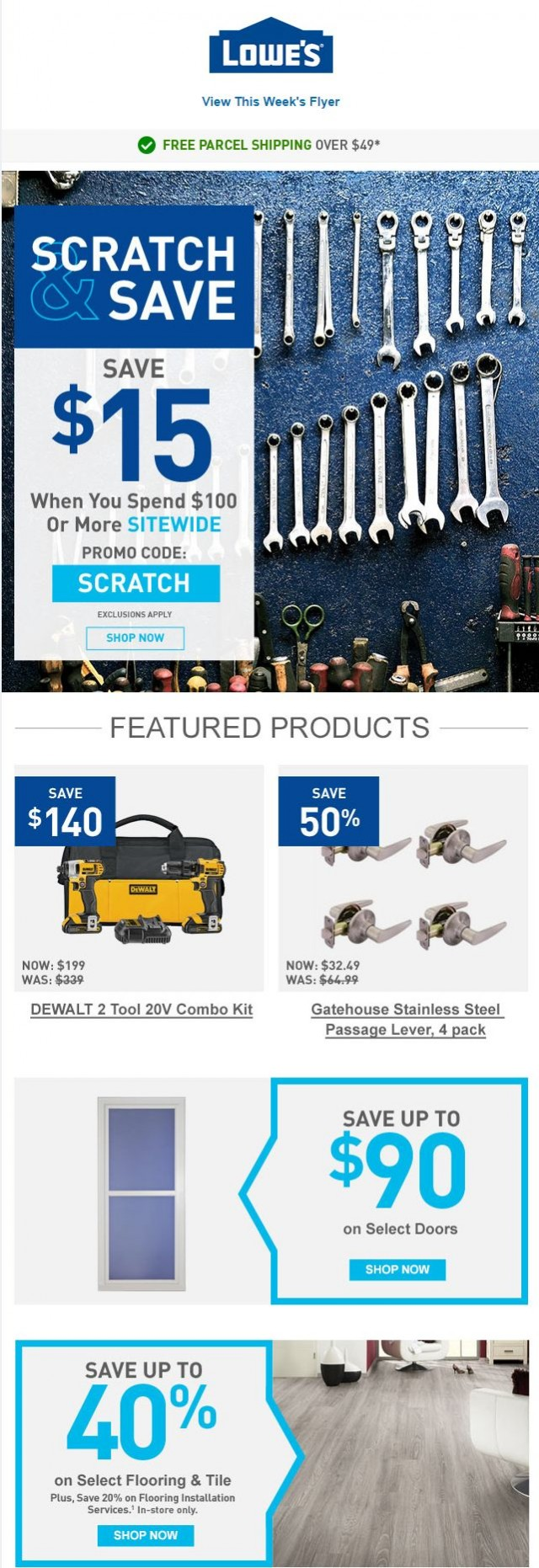 Coupon for: Lowe's - Save sitewide on tools & materials you need