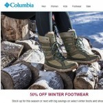 Coupon for: Columbia - Get up to 50% off winter footwear!