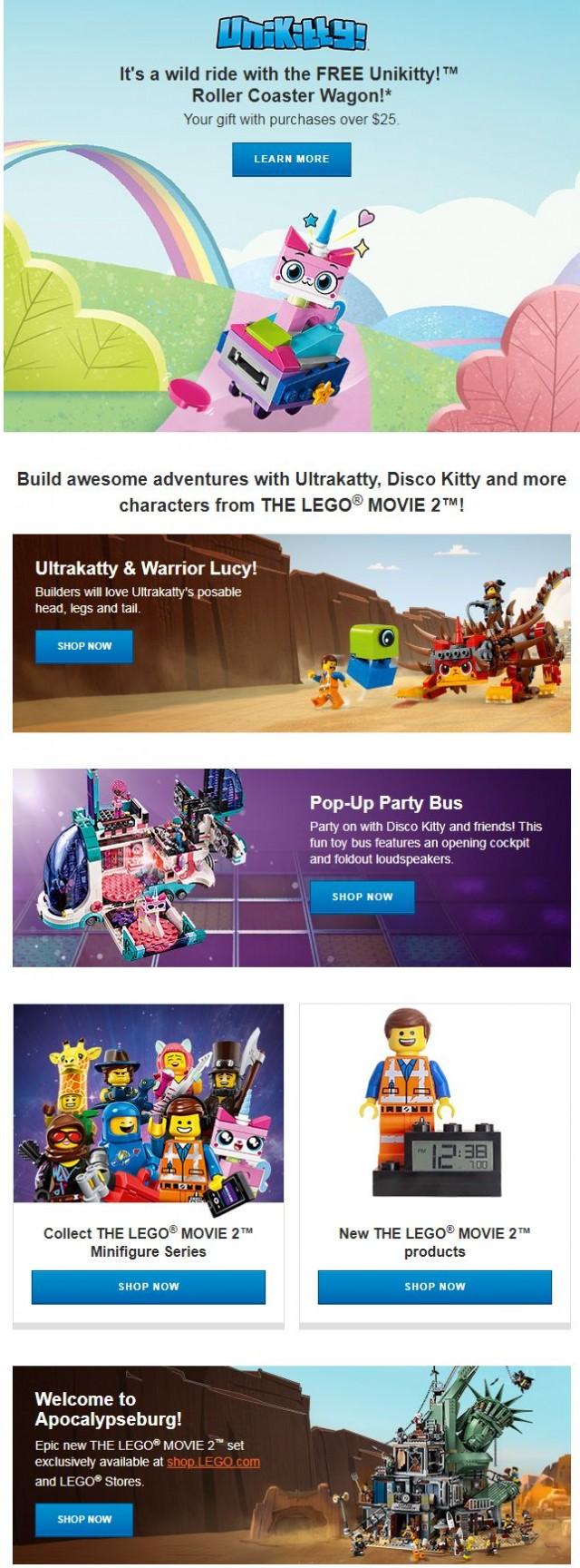 Coupon for: Lego - FREE Unikitty™ Roller Coaster Wagon!*