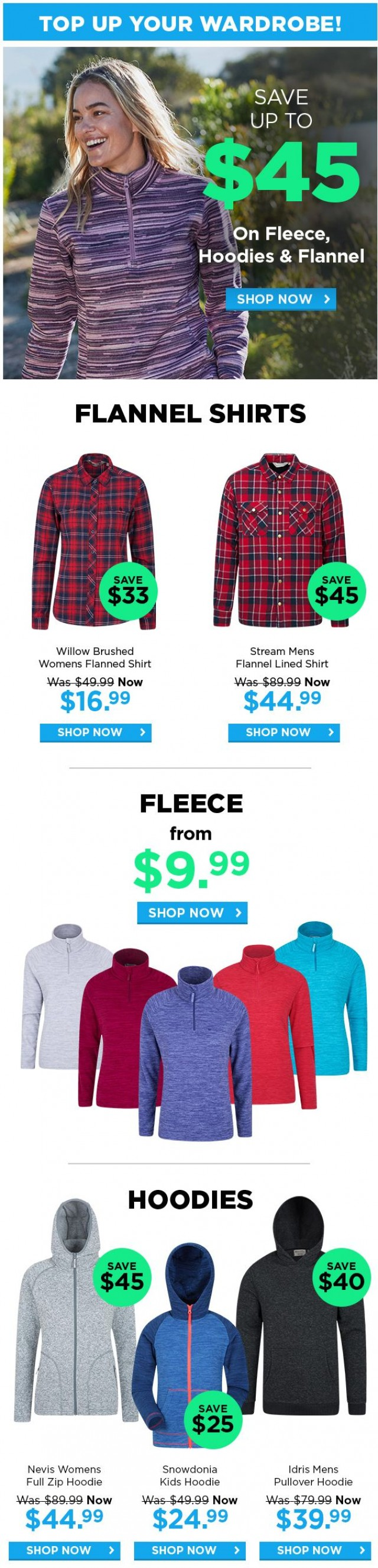 Coupon for: Mountain Warehouse - Top up your wardrobe!