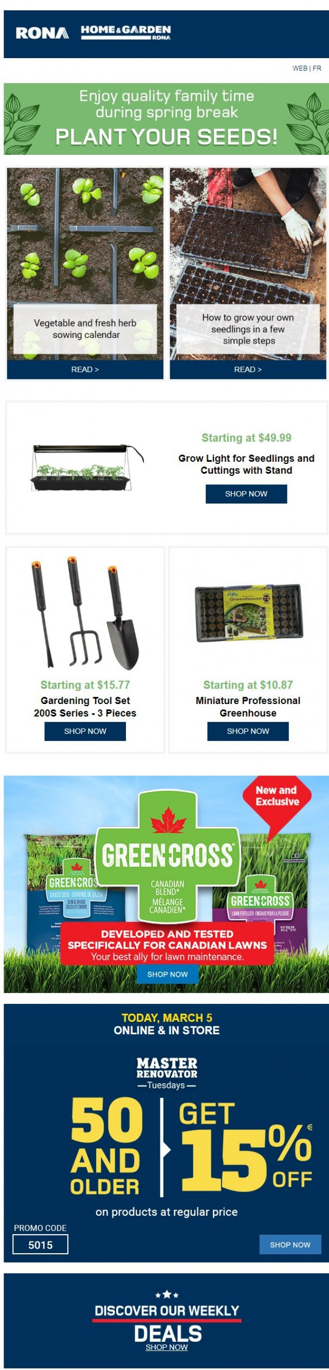 Coupon for: Rona - Ready to start gardening?