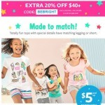 Coupon for: Carter's - Totally made to match. $5 and up!