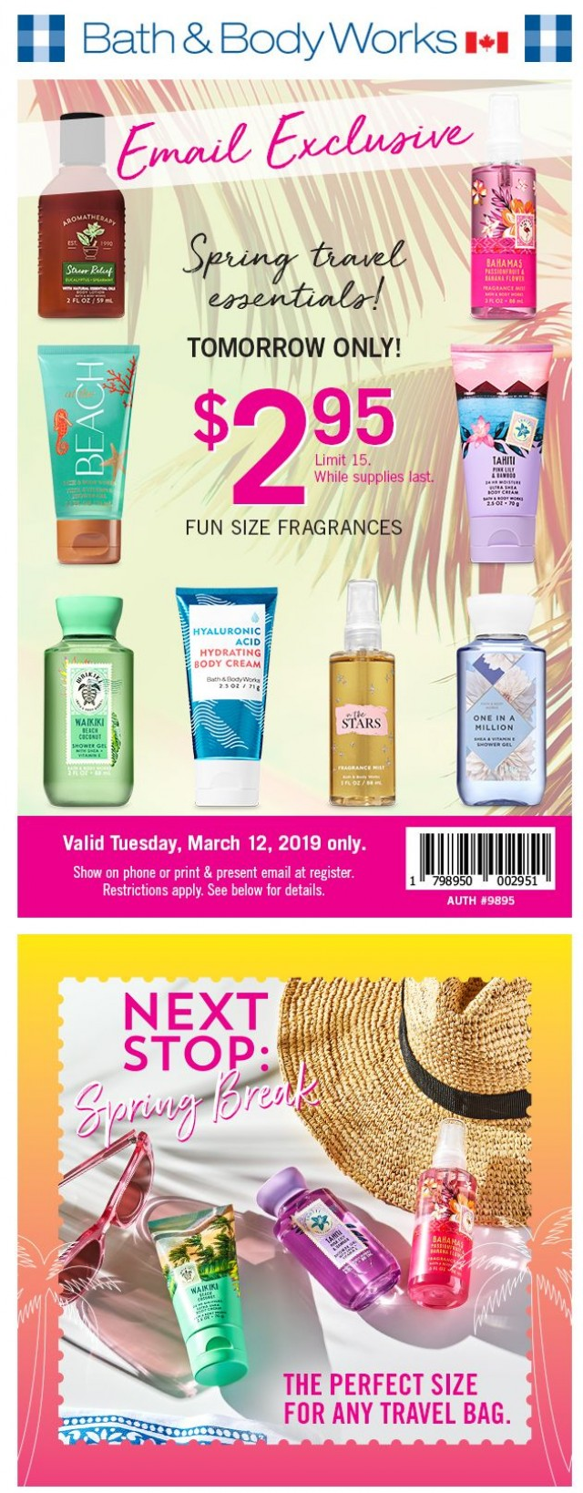Coupon for: Bath & Body Works Canada  - Tomorrow's gonna be fun...
