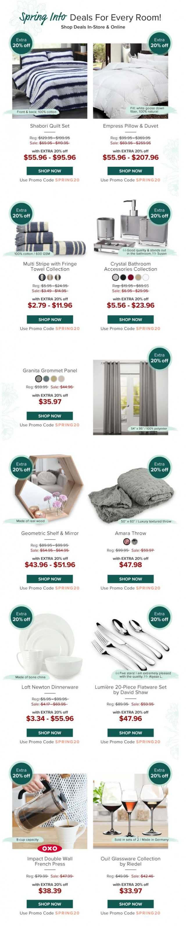 Coupon for: Linen Chest - This Weekend Only!