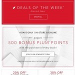 Coupon for: Indigo | Chapters - Deals Of The Week + 500 BONUS Plum Points On Every Book