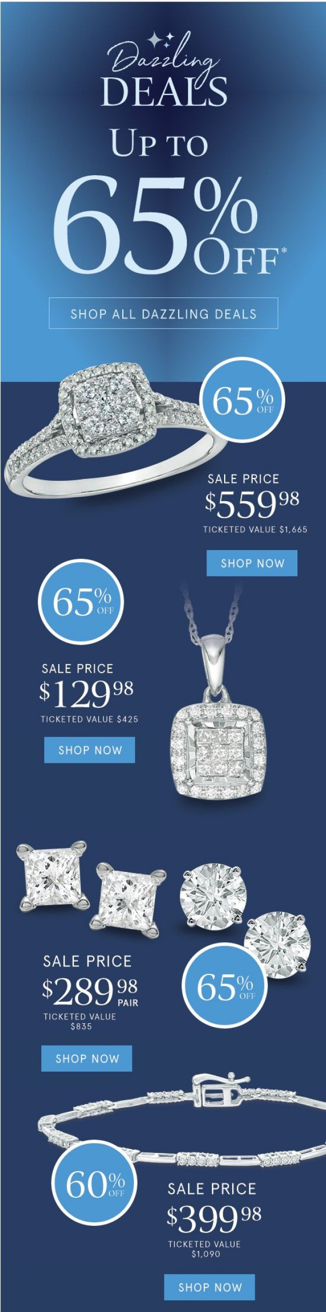 Coupon for: Zales Outlet - It's Not a Typo ✨ Dazzling Deals Up to 65% Off