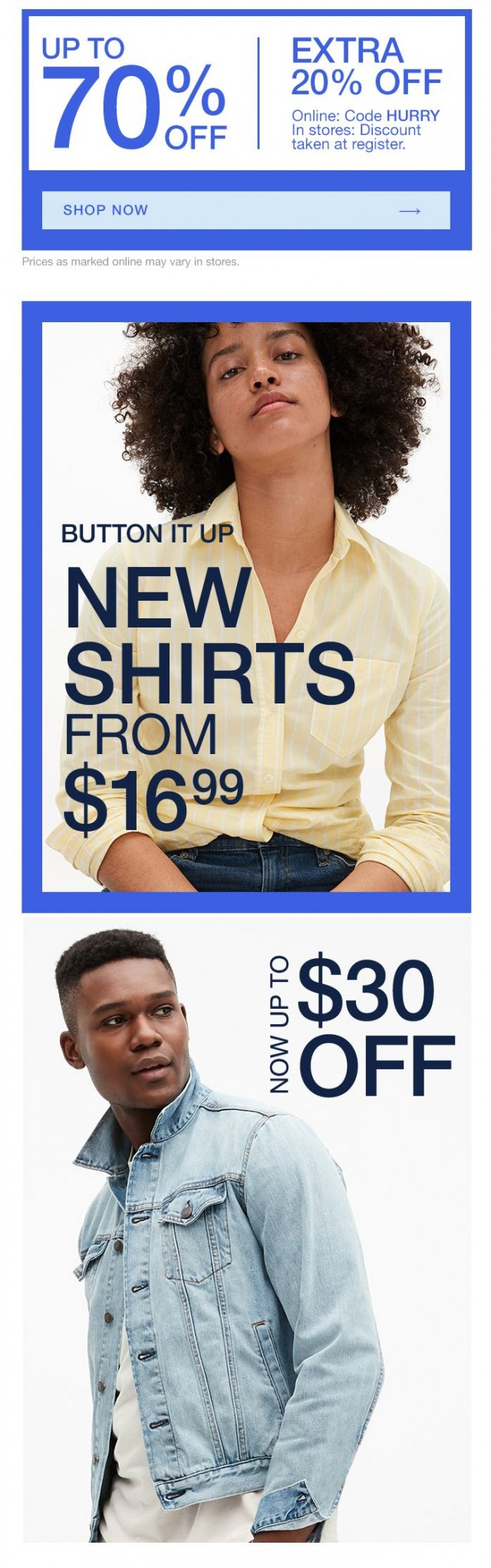 Coupon for: Gap - Your buttons are showing